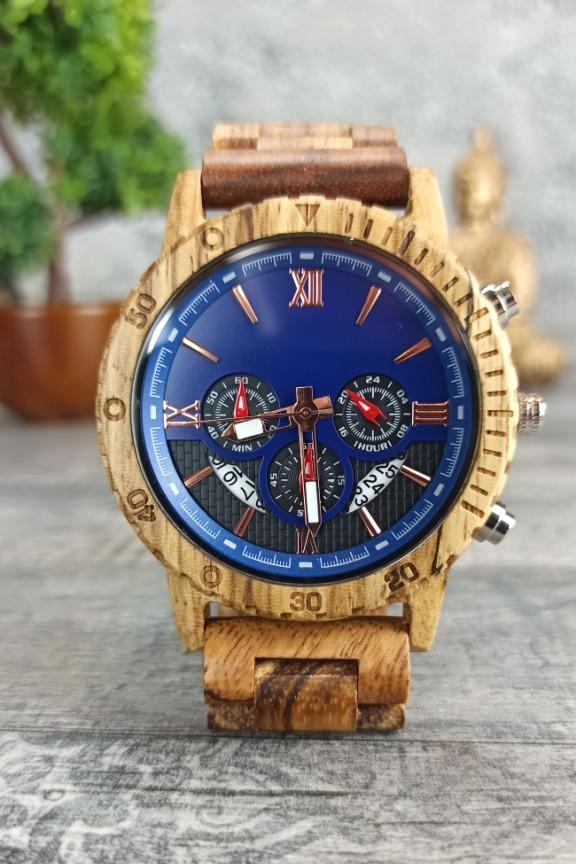 ξύλινο-ρολόι-χρονογράφος-μπλε-ζεμπράνο