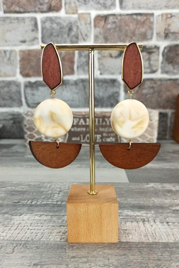 σκουλαρίκια-ξύλινα-μάρμαρο