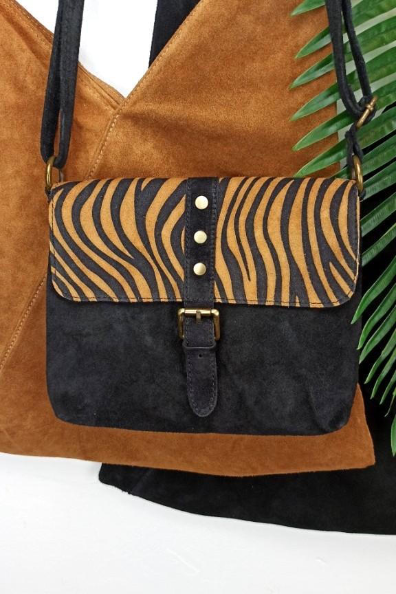 δερμάτινη-τσάντα-ζεβρε-μαύρο-ταμπά