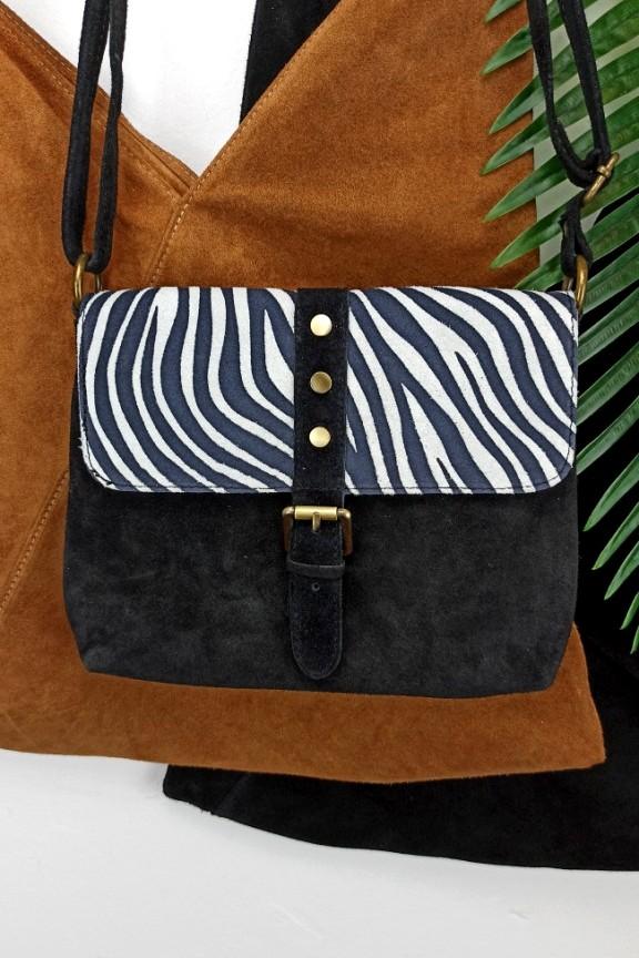 δερμάτινη-τσάντα-ζεβρε-μαύρο-λευκό