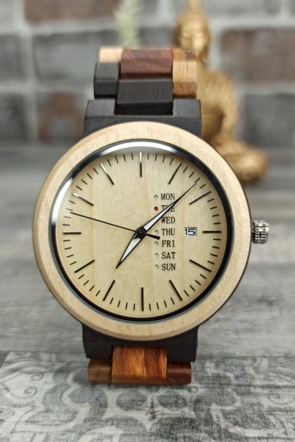 ξύλινο-ρολόι-πολύχρωμο-μπρασελέ