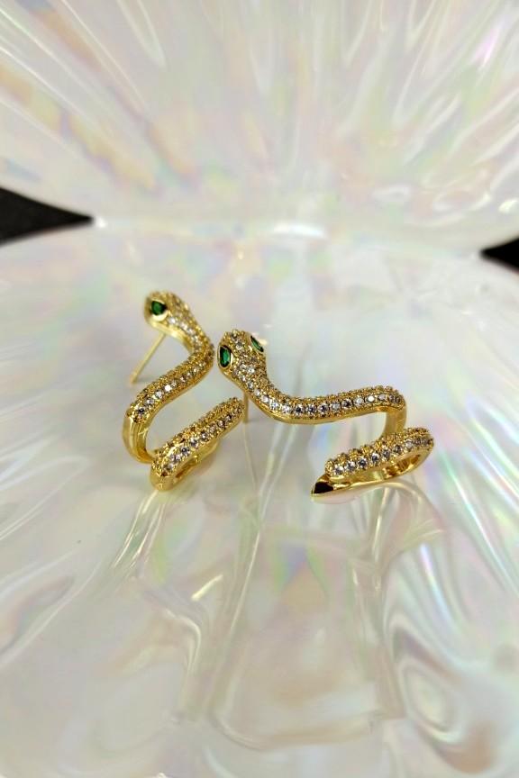 σκουλαρίκια-φίδι-ατσάλι-ζιργκόν-χρυσό
