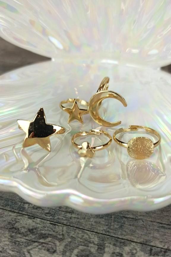 σετ-δαχτυλιδιών-χρυσό-φεγγάρι