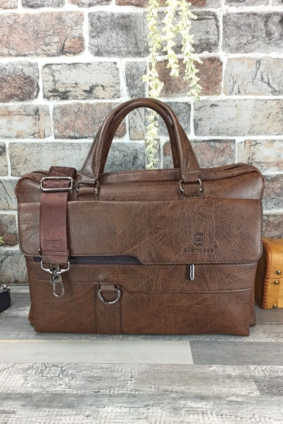 τσάντα-ταχυδρόμου-δερματινη-καφέ
