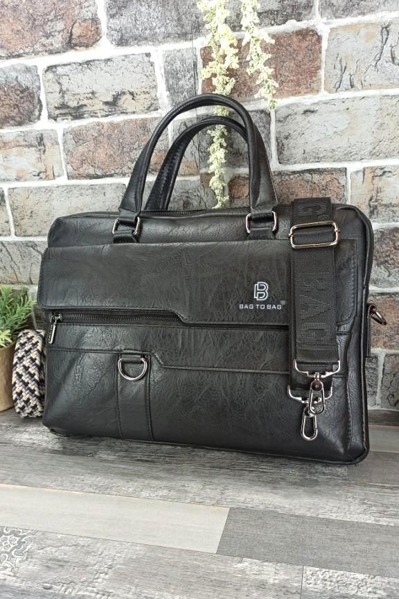 τσάντα-ταχυδρόμου-δερματινη-μαύρη