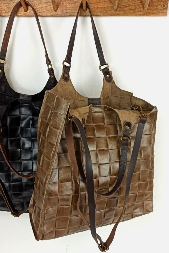 δερμάτινη-τσάντα-πλεκτή-πούρο
