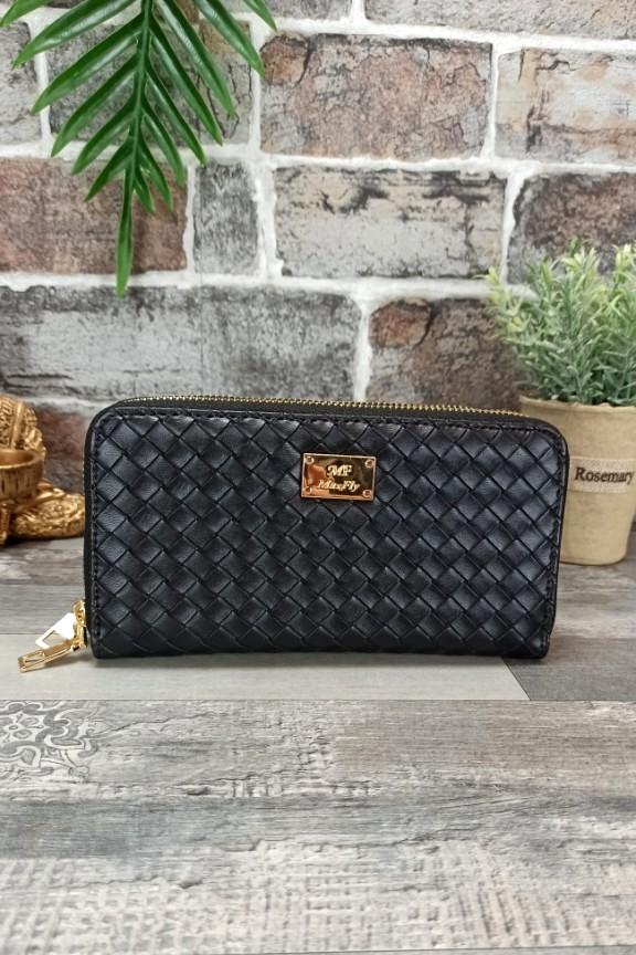 πορτοφόλι-γυναικείο-πλεκτό-μαύρο