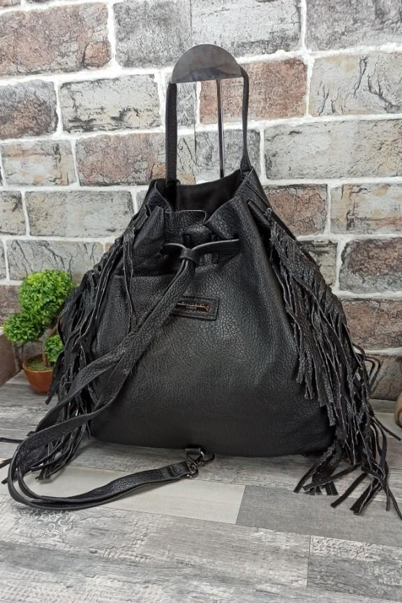 τσάντα-πλάτης-κρόσια-μαύρη