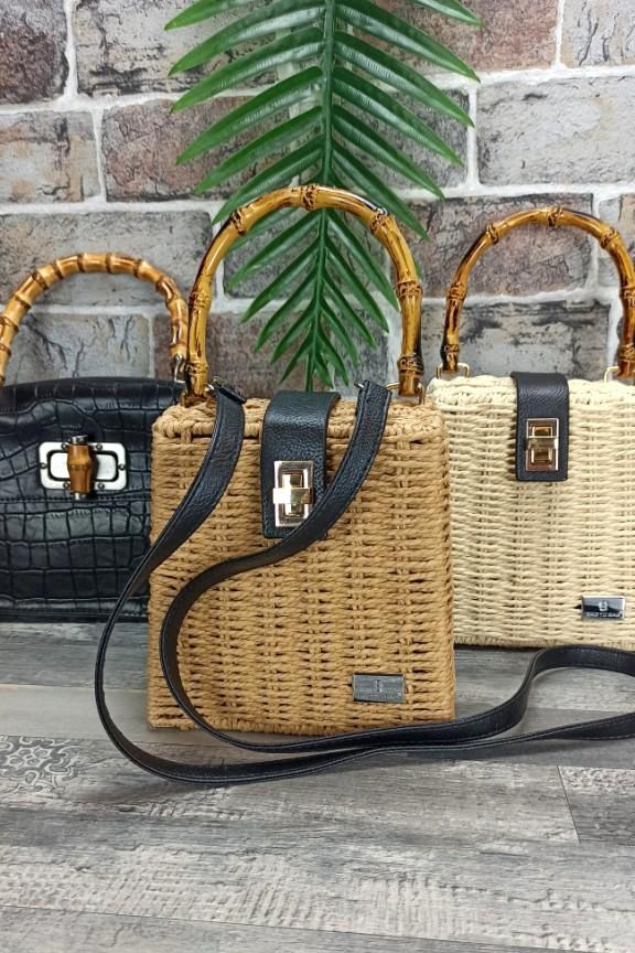 ψάθινη-τσάντα-λαβή-μπαμπού-μπεζ