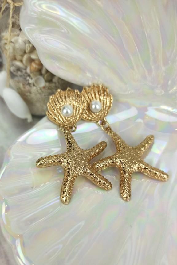 σκουλαρίκια-αστερίες-χρυσά