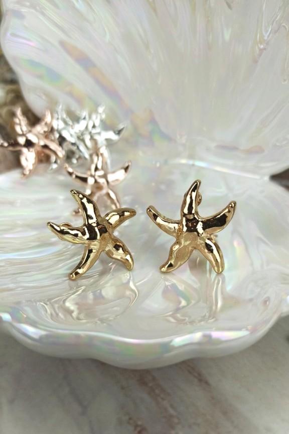 σκουλαρίκια-αστερίες-κλιπ-χρυσό