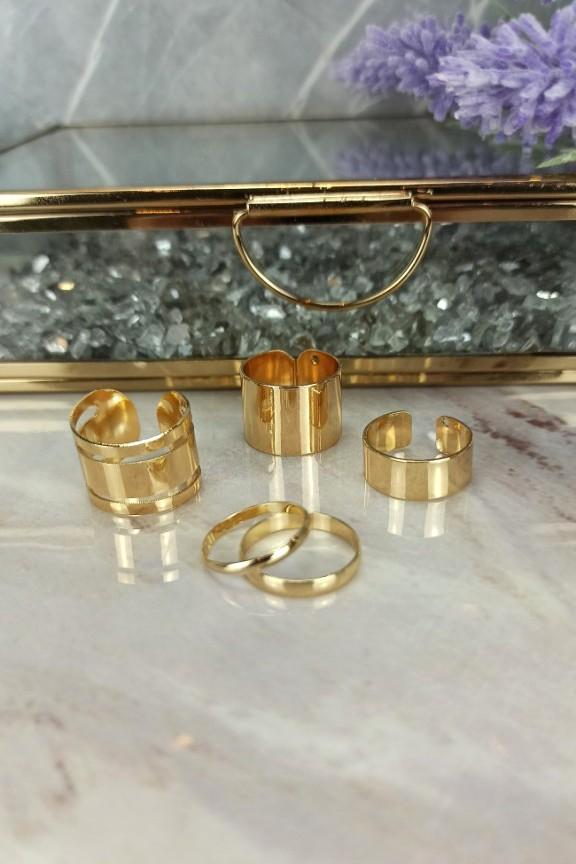 σετ-δαχτυλιδιών-χρυσά