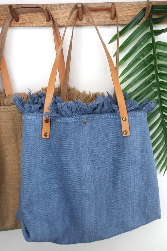 τσάντα-χειροποίητη-hobo-δέρμα-μπλε