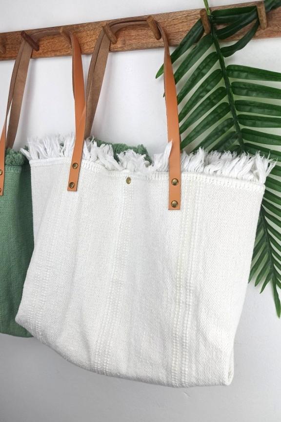 τσάντα-χειροποίητη-hobo-δέρμα-λευκή