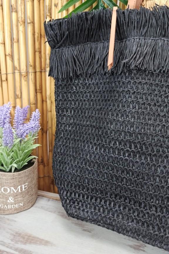 μεγάλη-ψάθινη-τσάντα-μαύρη
