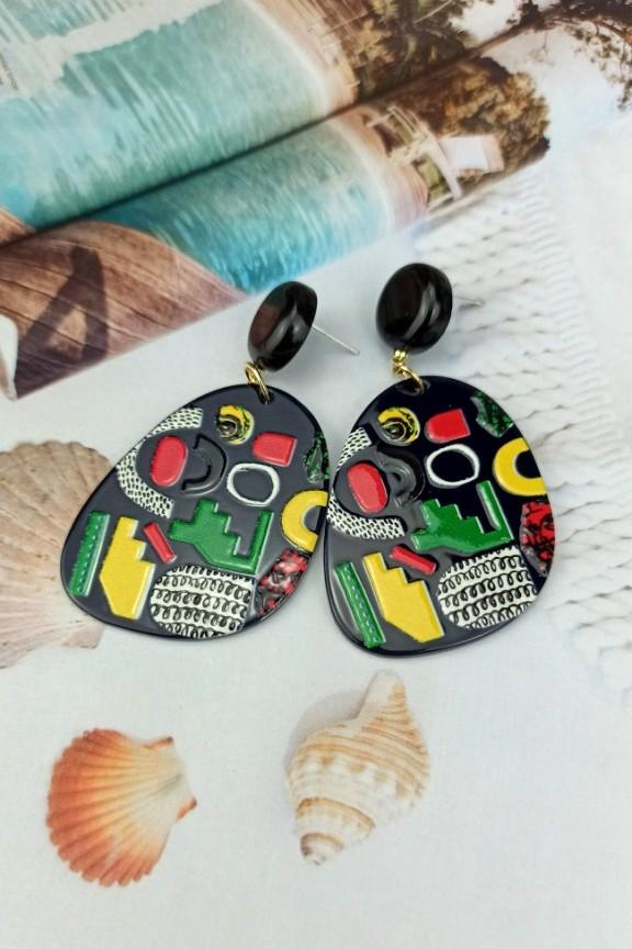 σκουλαρίκια-ρητίνης-μαύρα-tribal