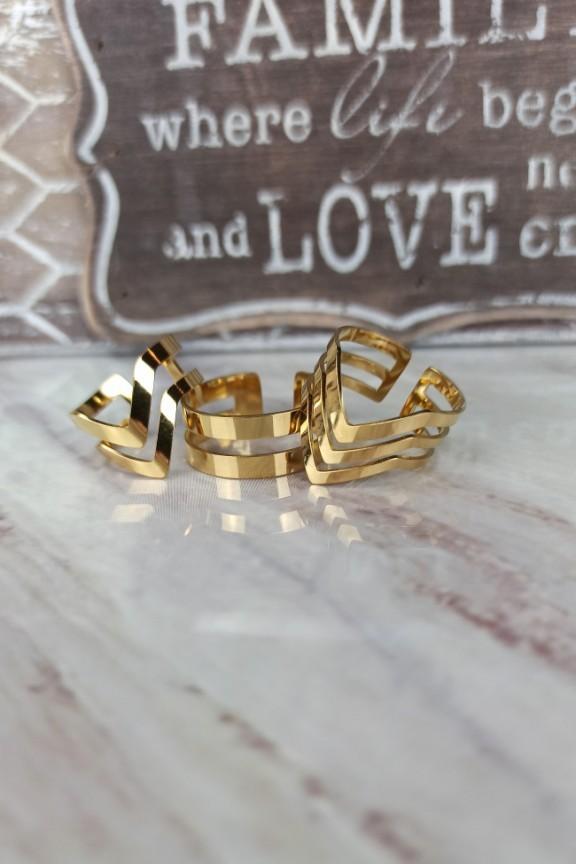 σετ-δαχτυλίδια-βέλος-ατσάλι-χρυσό