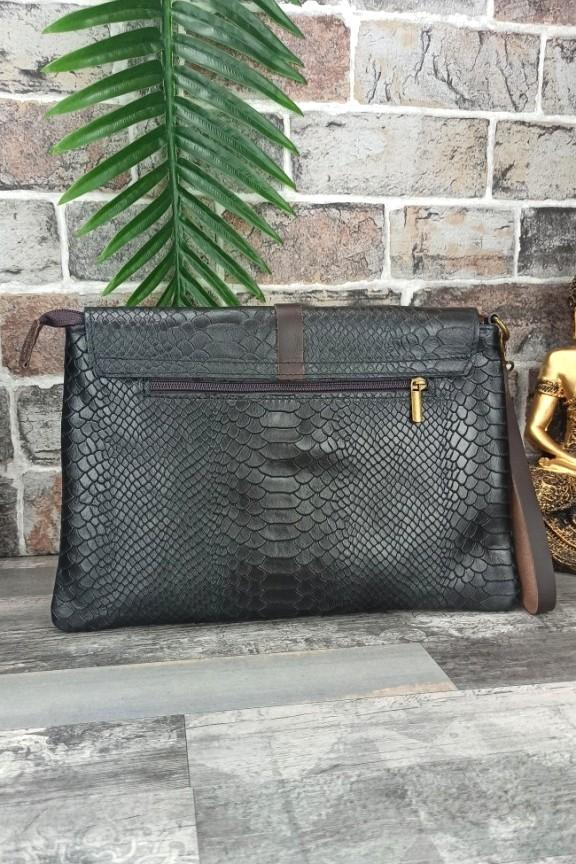 δερμάτινη-τσάντα-φάκελος-κροκό-μαύρη
