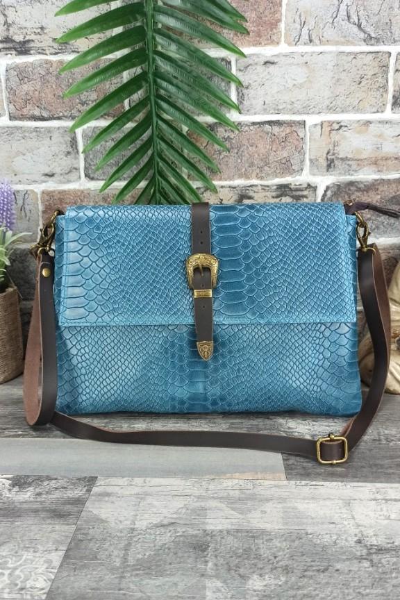 δερμάτινη-τσάντα-φάκελος-κροκό-γαλάζια