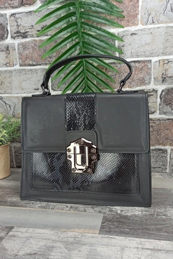 τσάντα-δέρμα-φίδι-μαύρη