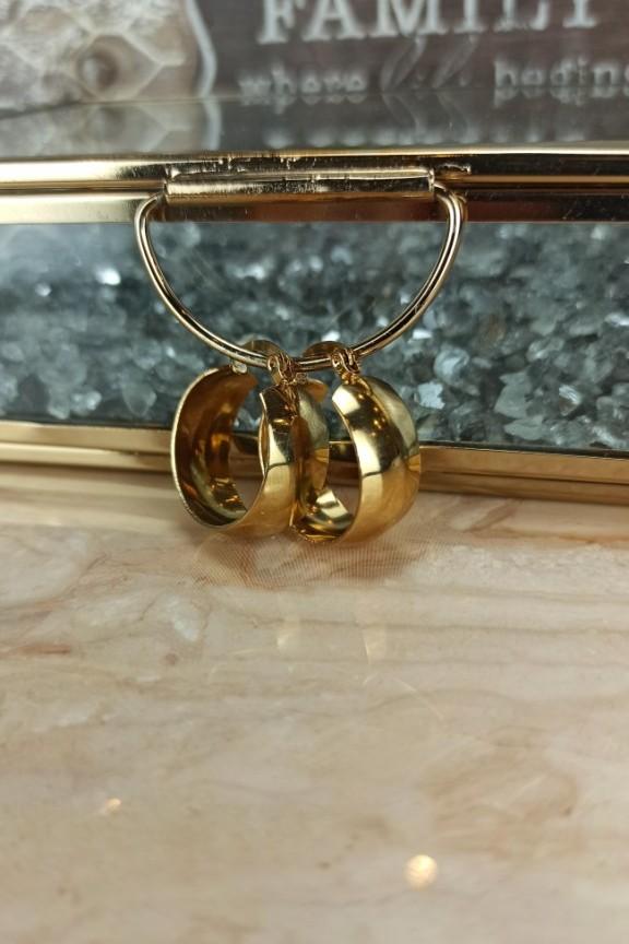 σκουλαρίκια-κρίκοι-φλούδα-ατσάλι-χρυσοί