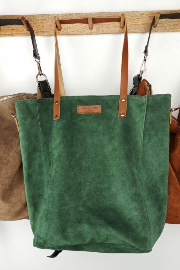 δερμάτινη-τσάντα-καστόρι-πράσινη
