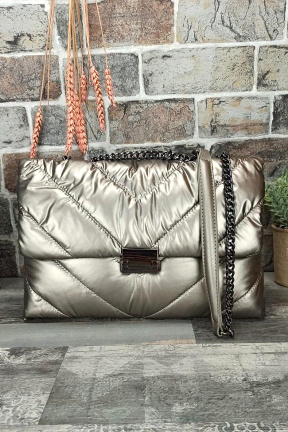 τσάντα-ώμου-puffer-ασημί