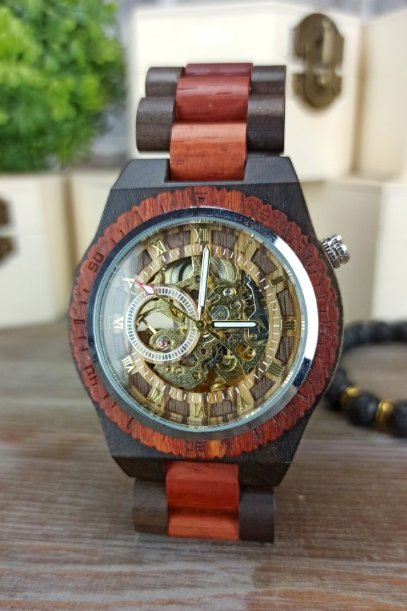 ξύλινο-ρολόι-αυτόματο-κερασιά